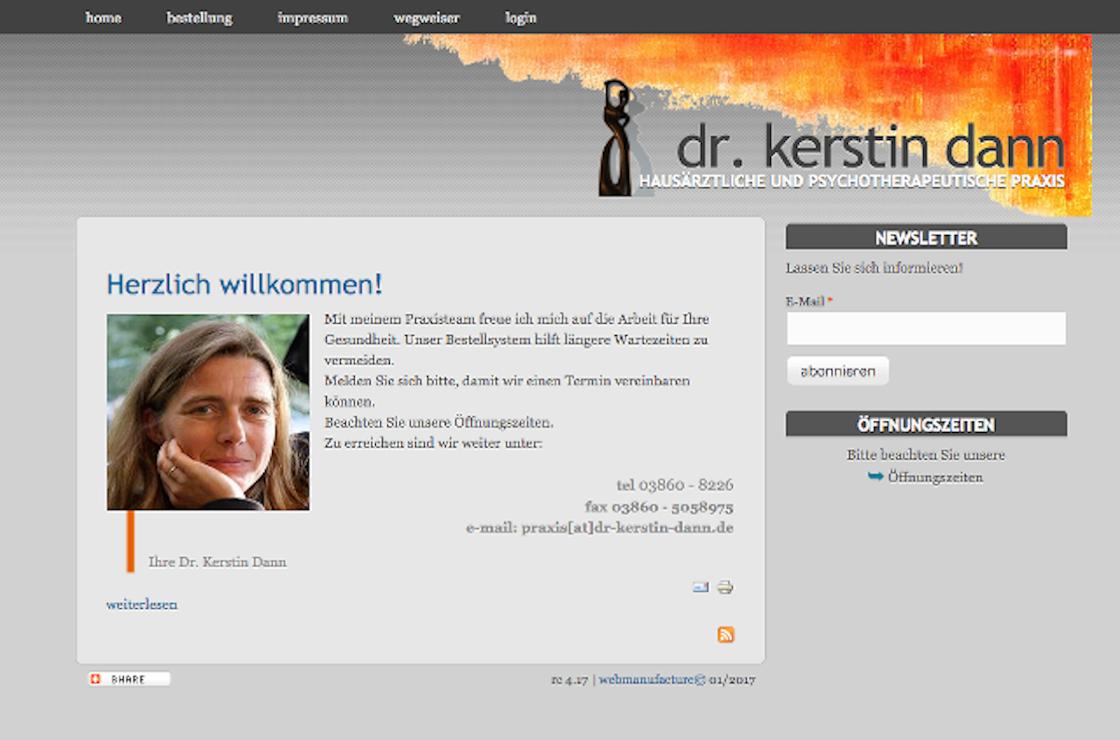screenshot ws dr-kerstin-dann.de