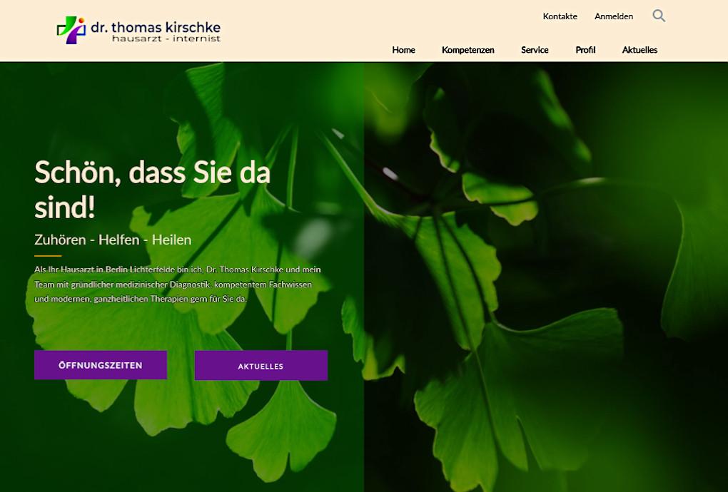 screenshot website dr-kirschke.de