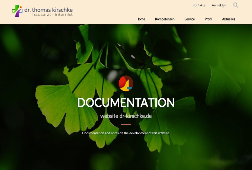 screenshot doku website dr-kirschke.de