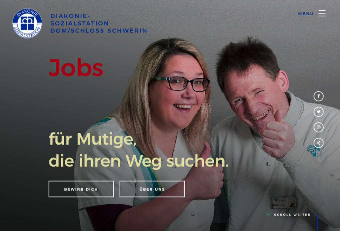 screenshot jobs.sozialstation-schwerin.de
