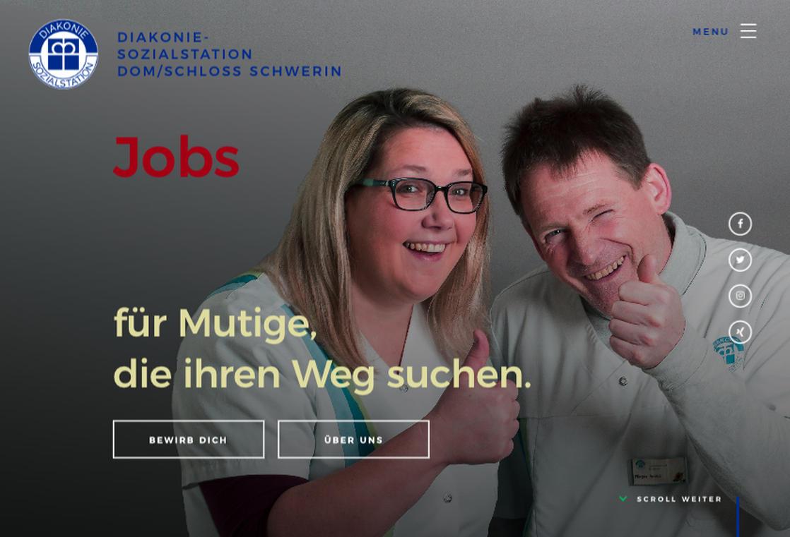 screenshot jobs.sozialstation-schwerin.de