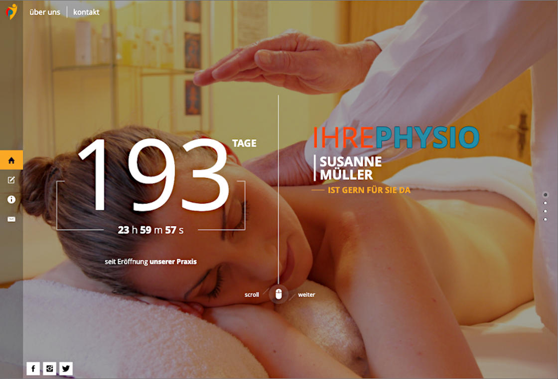 screenshot ihrephysio.de